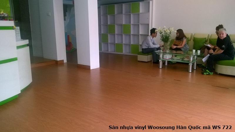 Sàn giả gỗ Woosoung nhập khẩu Hàn Quốc mã 722