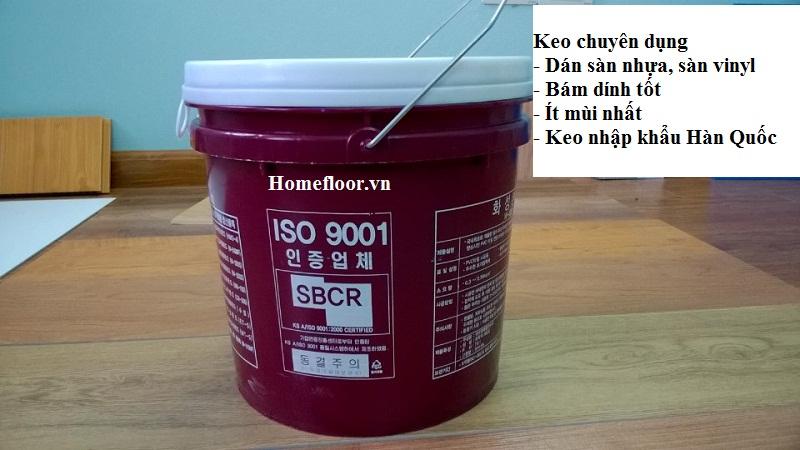 keo dán sàn nhựa Hàn Quốc hiệu quả nhất trên thị trường - Homefloor