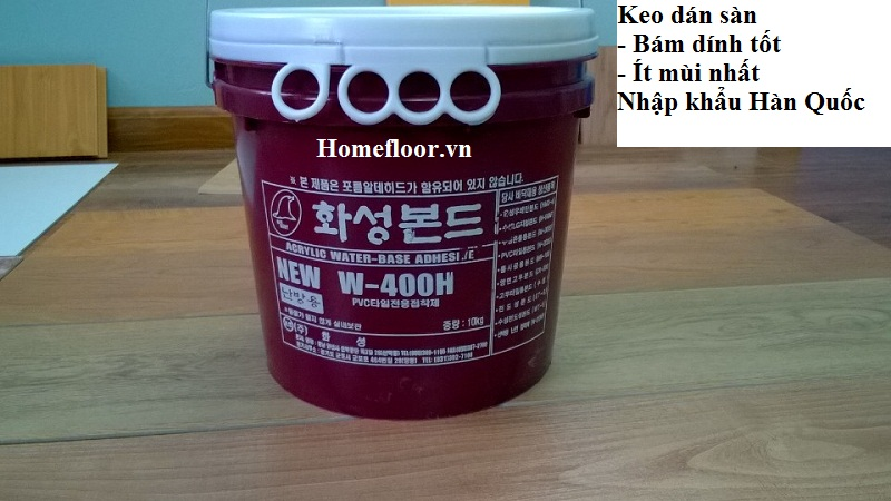Keo dán sàn nhựa nhập khẩu Hàn Quốc - Homefloor