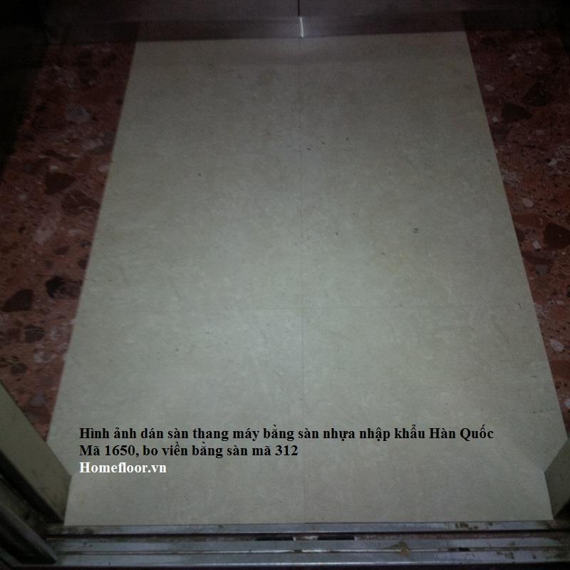 Sàn vinyl lát sàn thang máy