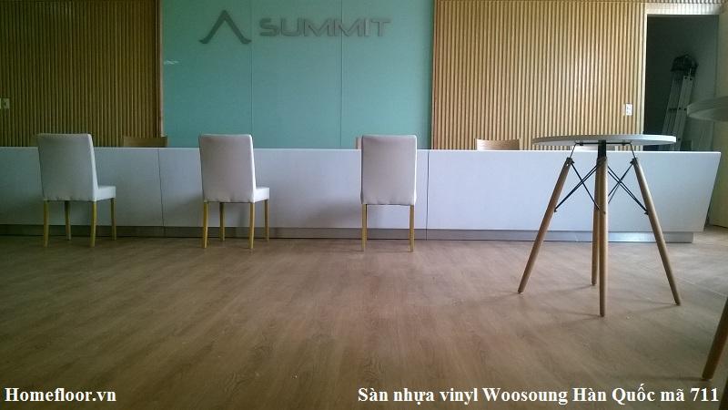 Sàn nhựa vinyl Woosoung Hàn Quốc mã 711